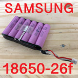 6 cell Samsung 26f 18650 Lithium Battery pack