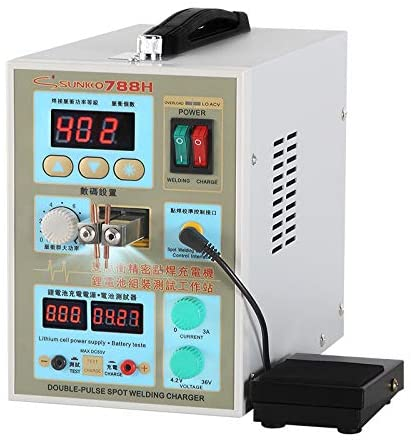 Sunkko Pulse Spot Welder 788H 18650 battery with LED Battery Testing and Charging Function
