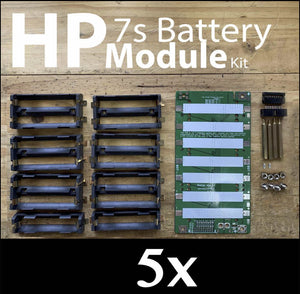 High Power 18650 Battery Module DIY PCB Kit 5x