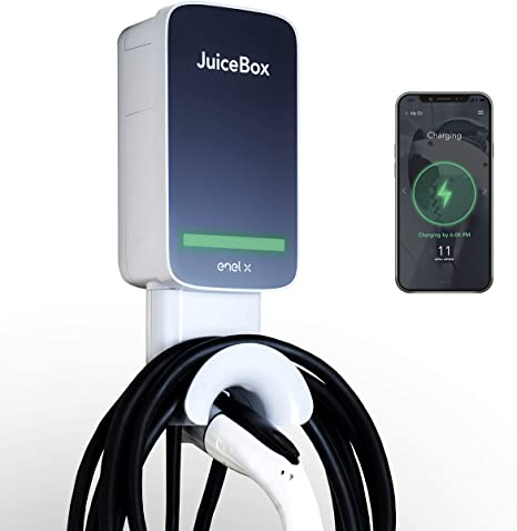 JuiceBox Pro 40 with JuiceNet: WiFi-equipped 40 Amp UL Listed Electric Vehicle Charging Station (EVSE) with 24-foot cable and NEMA 14-50 pl