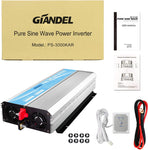 Giandel 3000W Pure Sine Wave Power Inverter DC 24V to AC120V