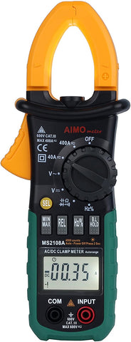 Multimeter AIMO MS2108A Auto Range Digital Clamp Meter 400 AC DC Current Hz Tester