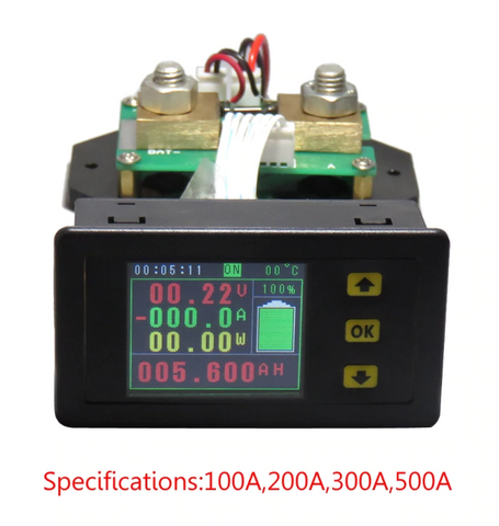 DC 120V 100A 200A 300A 500A LCD Combo Meter Voltage Current Monitoring Monitor-in Voltage Meters