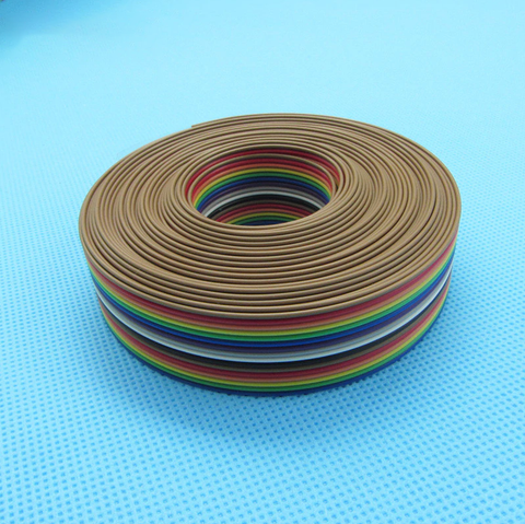 Ribbon cable 16 WAY Flat Rainbow Color 16P 1.27mm pitch - 10meters/lot