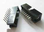 2.54mm DC3 16-Pin Right Angle Male IDC Socket Box Header, 2x8Pin | 20pcs/lot