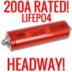 USED HEADWAY 38120 HP 3.2V 8AH LIFEPO4 BATTERY