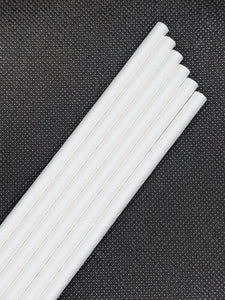 "7.75"" PLAIN WHITE PAPER STRAWS - 2400 CT (WRAPPED) - Orcas Ocean Straws"