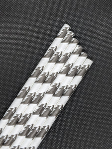 "7.75"" PAPER STRAWS - ORCA DESIGN - 2400 CT (WRAPPED) - Orcas Ocean Straws"