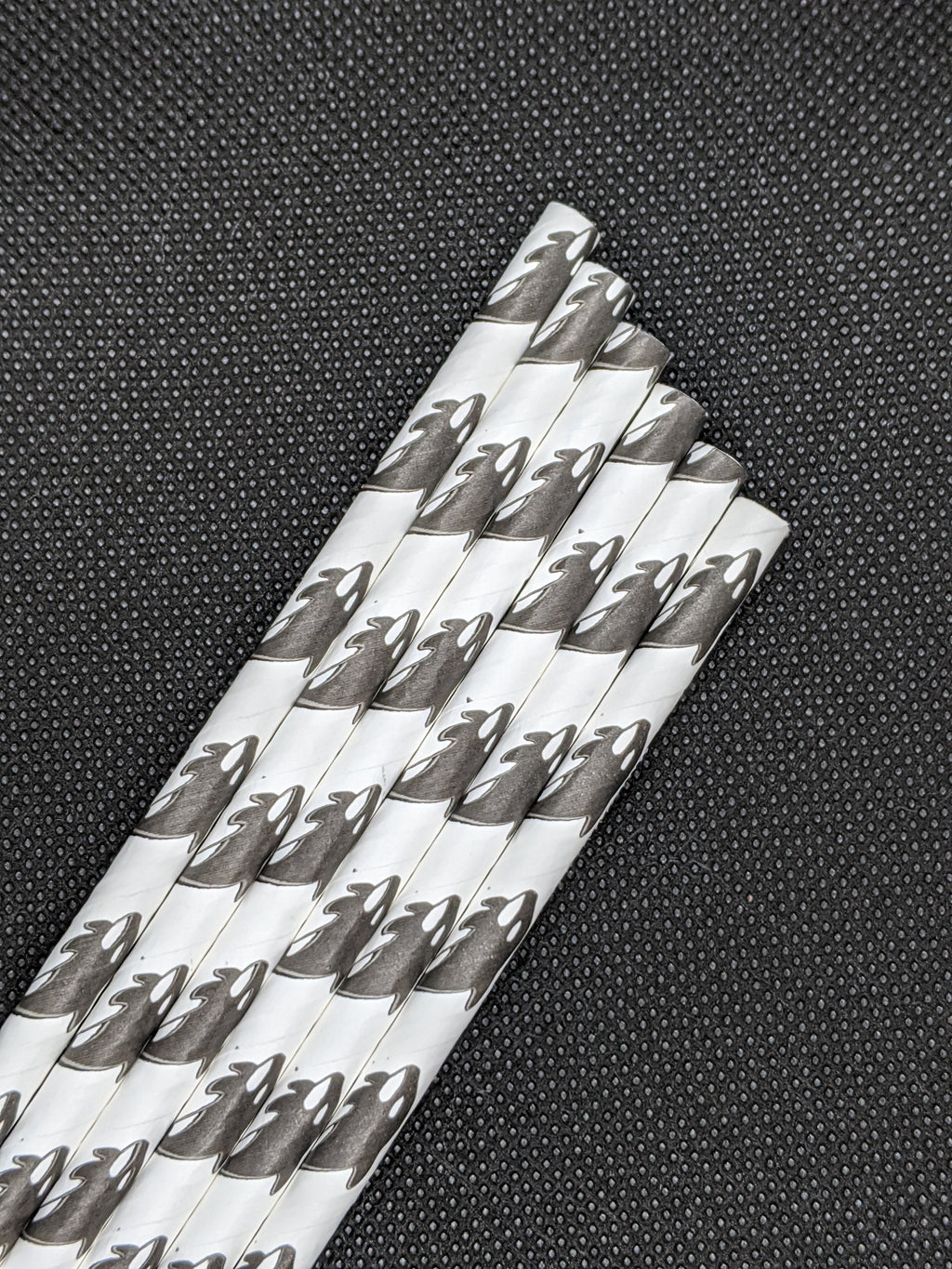 "7.75"" PAPER STRAWS - ORCA DESIGN - 4000 CT (UNWRAPPED) - Orcas Ocean Straws"