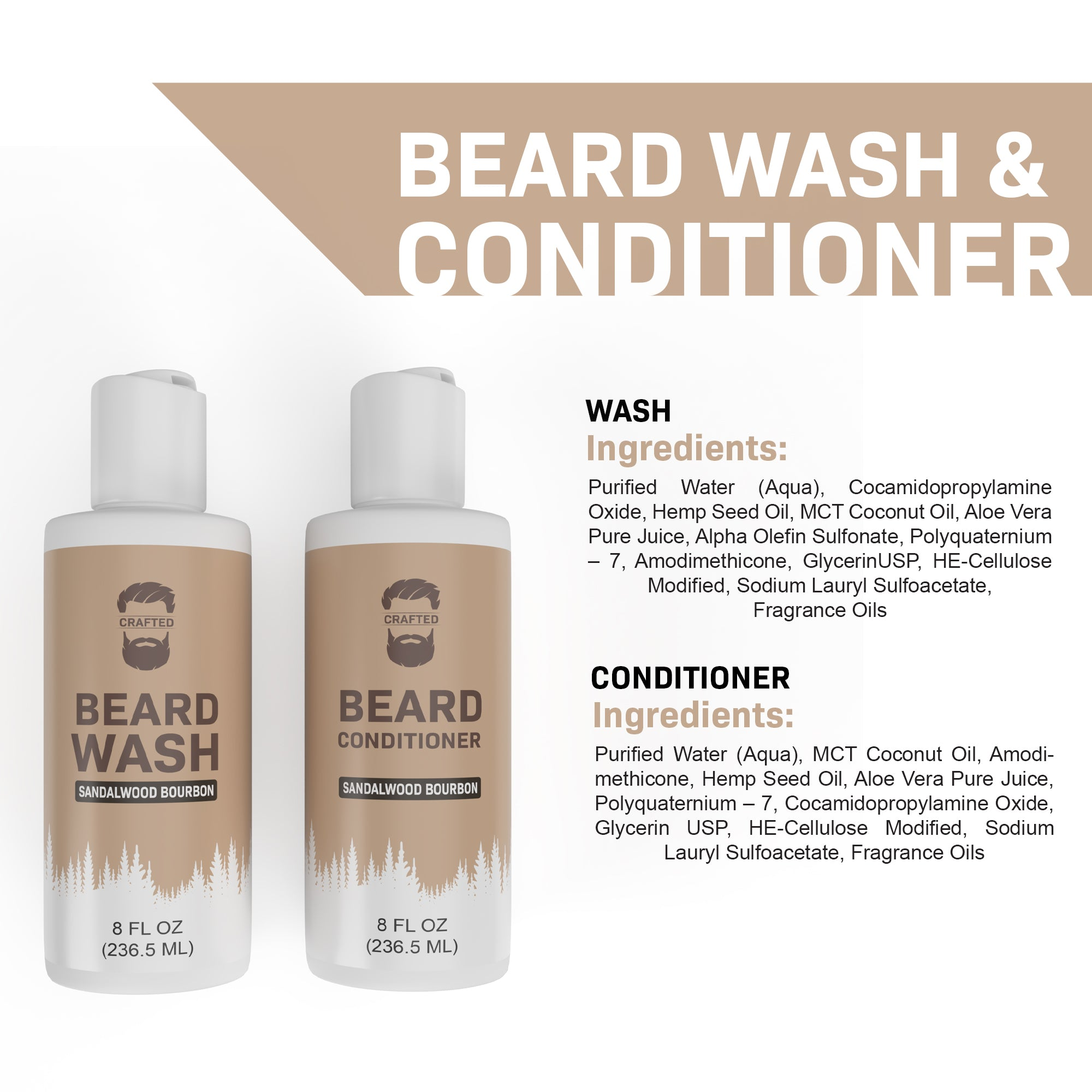 Beard Shampoo & Conditioner - Crafted Beards