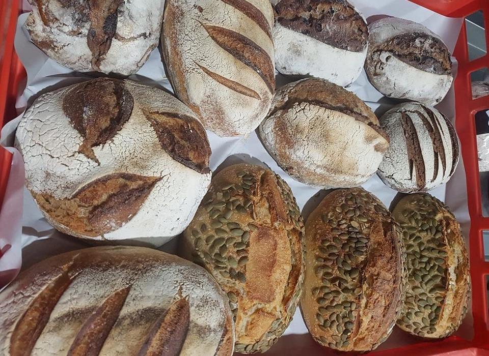 Variety of fresh organic Artisan bread @ Earth Market Wholefoods Joondalup