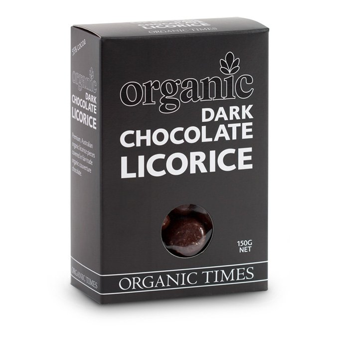 Organic Times Dark Chocolate Licorice