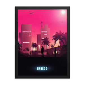 narcos 80s neon poster