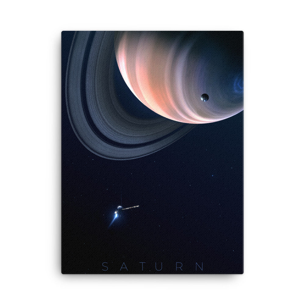 saturn space canvas print by noble-6 design