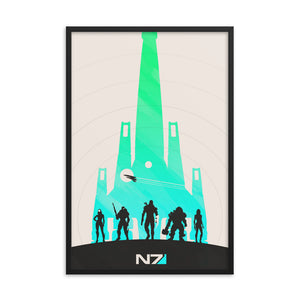 """Mass Effect N7"" Framed Premium Photo Paper Poster"