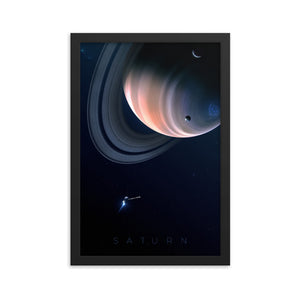 """Saturn"" Framed Premium Luster Photo Paper Poster"