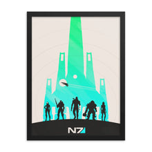 "Load image into Gallery viewer, ""Mass Effect N7"" Framed Premium Photo Paper Poster"