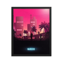 "Load image into Gallery viewer, ""Narcos""Framed Matte Poster"
