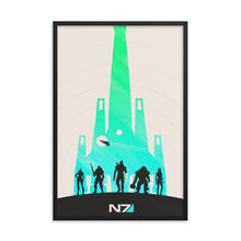 "Load image into Gallery viewer, ""Mass Effect N7"" Framed Matte Poster"