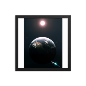 """2001: A Space Odyssey"" Framed Premium Luster Photo Paper Poster"