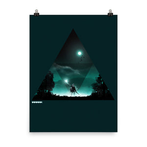 """Triforce"" Premium Luster Photo Paper Poster"