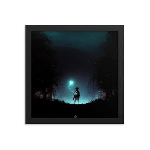 """It's Dangerous to Go Alone"" Framed Premium Luster Photo Paper Poster"