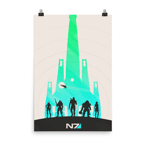"""Mass Effect N7"" Premium Luster Photo Paper Poster"