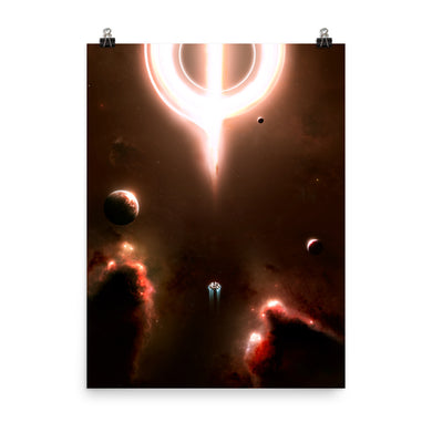 interstellar black hole poster