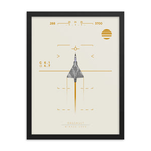 """Mirage 2000"" Framed Matte Poster"