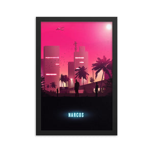 """Narcos"" Framed Premium Luster Photo Paper Poster"