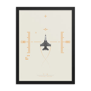 """F-16 Fighting Falcon"" Framed Matte Poster"