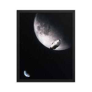 """Lunar"" Framed Premium Luster Photo Paper Poster"
