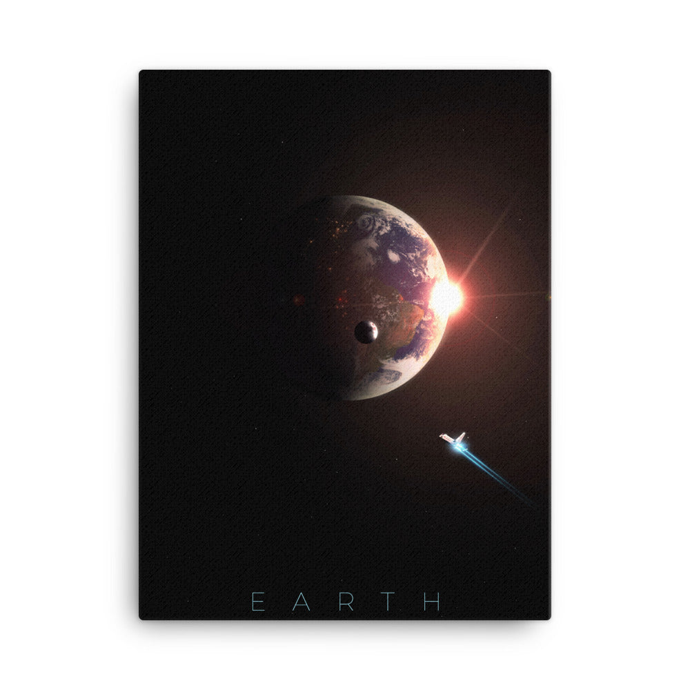 planet earth nasa canvas print from noble-6 design