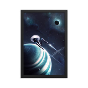 """Beyond"" Framed Premium Luster Photo Paper Poster"
