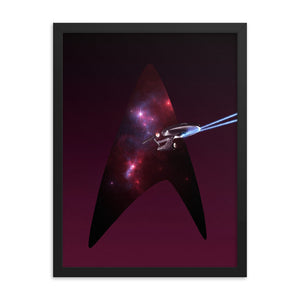 """NCC-1701"" Framed Premium Luster Photo Paper Poster"