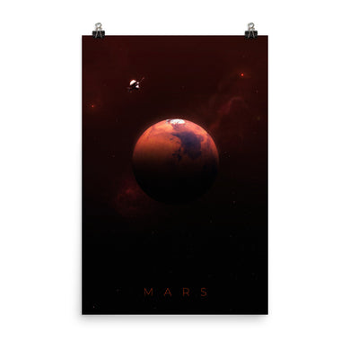 mars nasa poster by noble-6 design