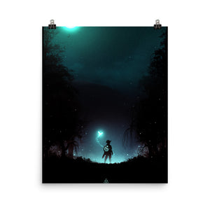 """It's Dangerous to Go Alone"" Matte Poster"