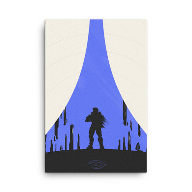 halo 4 master chief minimalist canvas print
