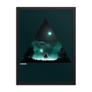 """Triforce"" Framed Premium Luster Photo Paper Poster"
