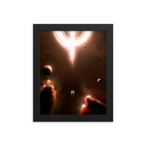 """Dying of the Light"" Framed Premium Luster Photo Paper Poster"