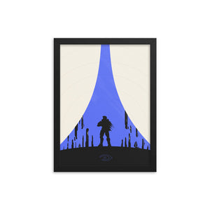 """Halo 4"" Framed Premium Luster Photo Paper Poster"