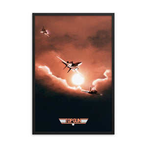 """Top Gun"" Framed Premium Luster Photo Paper Poster"