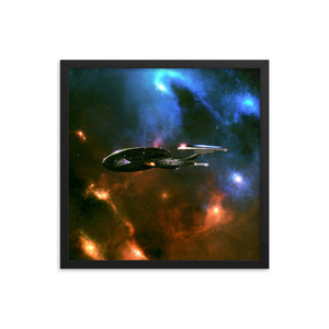 """Enterprise-E"" Framed Premium Luster Photo Paper Poster"