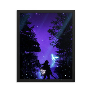 """Hero of Hyrule"" Framed Premium Luster Photo Paper Poster"