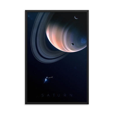 saturn space poster by noble-6 design