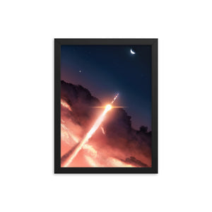 """Apollo 11"" Framed Premium Luster Photo Paper Poster"