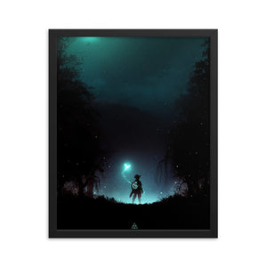 """It's Dangerous to Go Alone"" Framed Matte Poster"