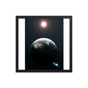 """2001: A Space Odyssey Framed Matte Poster"