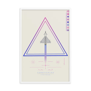"""Eurofighter Typhoon"" Framed Matte Poster"