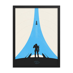 """Halo 3"" Framed Premium Luster Photo Paper Poster"